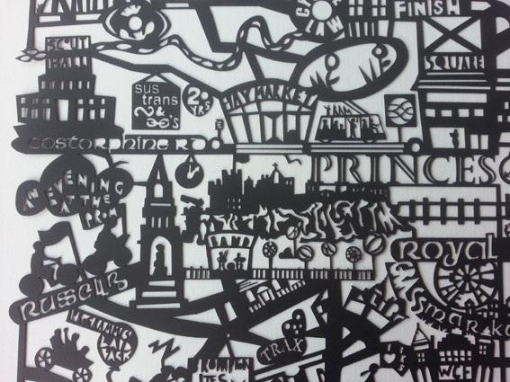 Edinburgh Festival of Cycling Papercut Artwork - The Papercut Artist